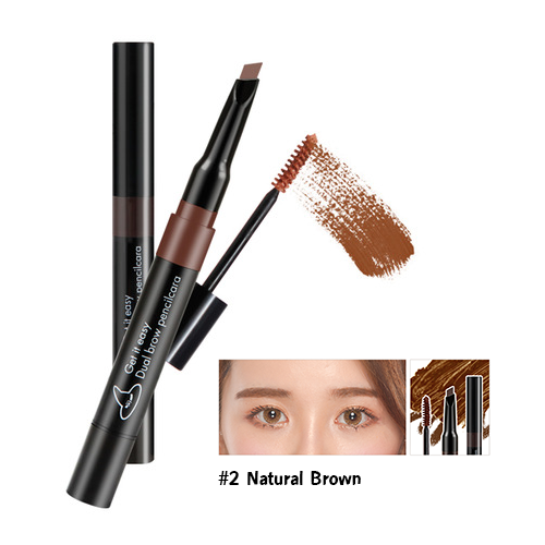 Witch's Pouch Get It Easy Dual Brow Pencilcara #2 น้ำตาลธรรมชาติ